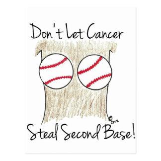 Hilarious Breast Cancer Awareness Cartoon Postcard