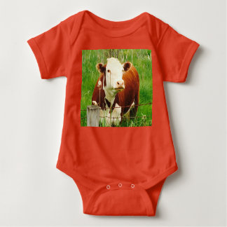 Hilarious Cow 4Billy Baby Bodysuit