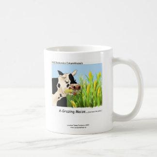 "Hilarious Cow ""A-Grazin' Maize"" Coffee Mug"