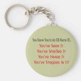 Hilarious ER Nurse Gifts Keychain