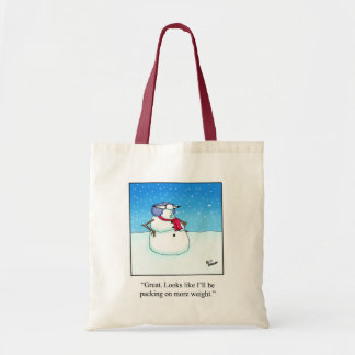 Hilarious Holiday Snow Woman Tote Bag
