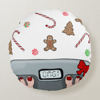Hilarious holidays round pillow