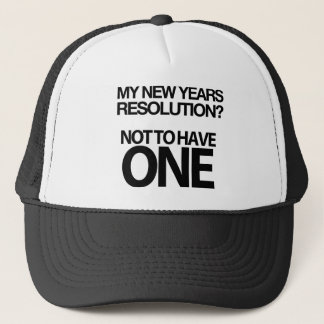 Hilarious New Years Resolution Cap