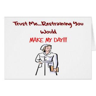 Hilarious Nurse Gifts Greeting Card
