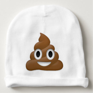 Hilarious poop-emoji - Poo cartoon design Baby Beanie