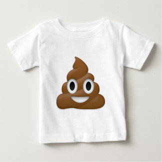 Hilarious poop-emoji - Poo cartoon design Baby T-Shirt
