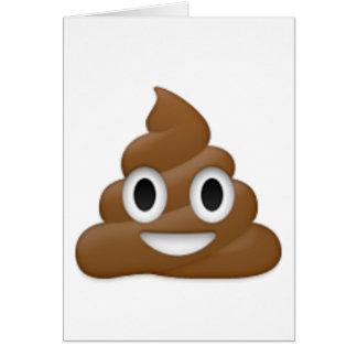Hilarious poop-emoji - Poo cartoon design Card
