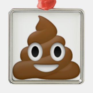 Hilarious poop-emoji - Poo cartoon design Metal Ornament