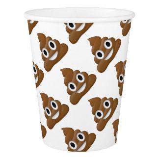 Hilarious poop-emoji - Poo cartoon design Paper Cup