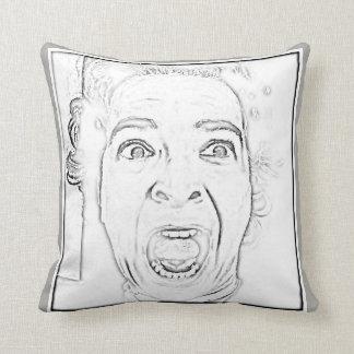 Hilarious Scared Woman Face Design Throw Pillow