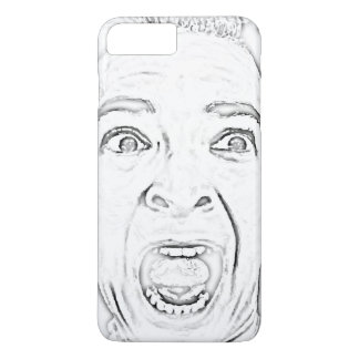Hilarious Scared Woman Screaming Print iPhone 8 Plus/7 Plus Case