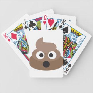 Hilarious shocked Emoji Poop Bicycle Playing Cards