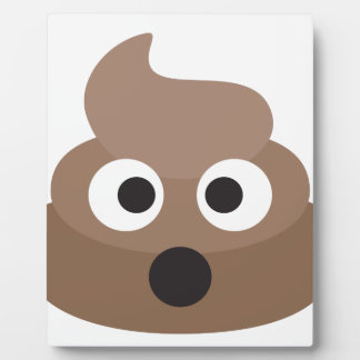 Hilarious shocked Emoji Poop Plaque