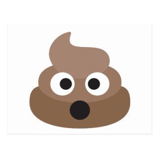 Hilarious shocked Emoji Poop Postcard