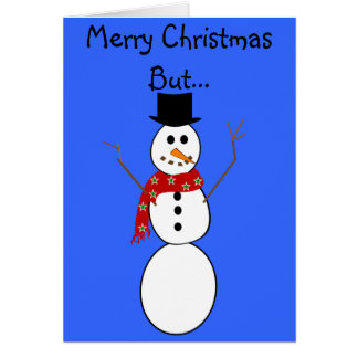 Hilarious Snowman Christmas Cards---Frosty Card