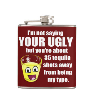Hilarious Tequila Quote Flasks