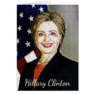 Hilary Clinton Memorabilia  Digital Art Blank Card