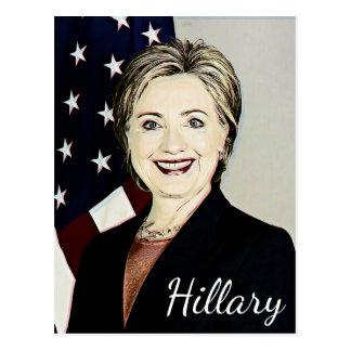 Hilary Clinton Memorabilia Pop Art Blank Card