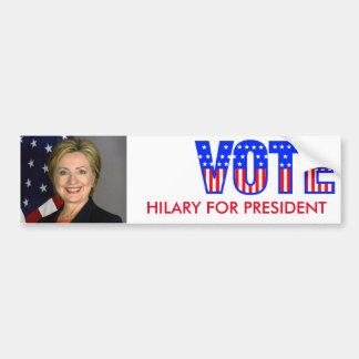 Hilary For President (Bumper Sticker) Bumper Sticker