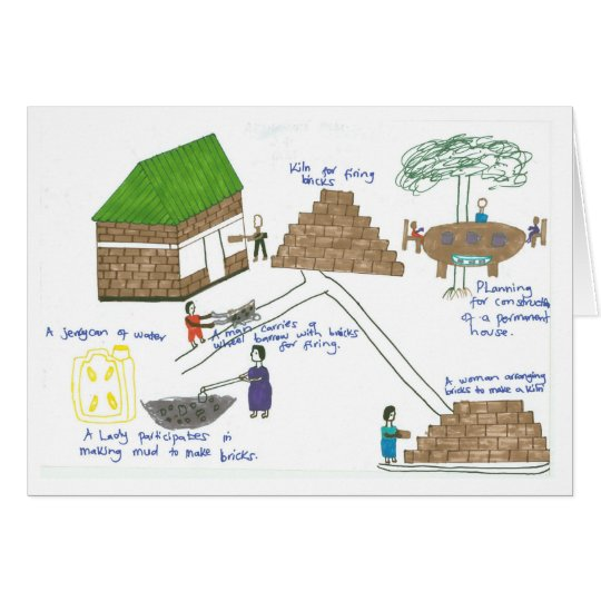 Hilda's Family Makes Bricks to Build their House Card