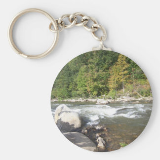 Hill Country River Basic Round Button Keychain