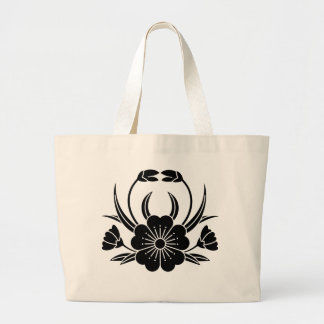 Hill crab cherry tree large tote bag