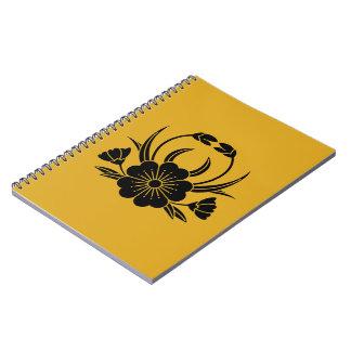 Hill crab cherry tree spiral notebook