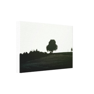 Hill landscape canvas print