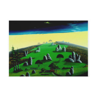 Hill of odd rock canvas print