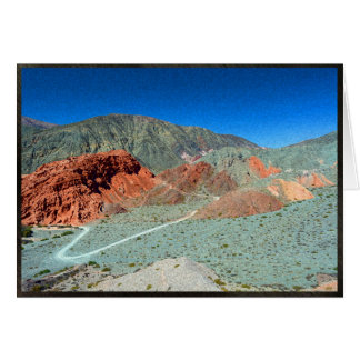 Hill of Seven Colors in Purmamarca, Argentina Card