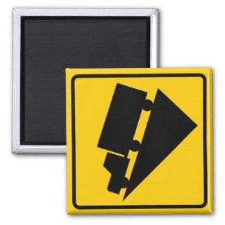 Hill or Steep Grade Warning Highway Sign Magnet