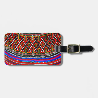 Hill Tribe Textile Luggage Tag