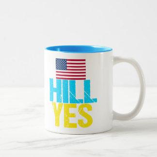 Hill Yes Modern Hillary Clinton Two-Tone Coffee Mug