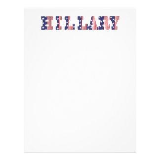 Hillary 16 Presidential Elections  Stripes & Stars Letterhead Design