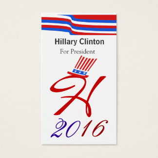Hillary 2016 business card
