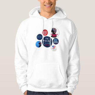 Hillary 2016 Campaign Buttons Hooded Sweatshirt
