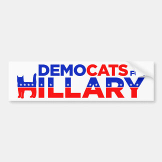 "Hillary 2016 ""Democats for Hillary"" Bumper Sticker"