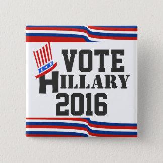Hillary 2016 Elections Democrat 2 Inch Square Button