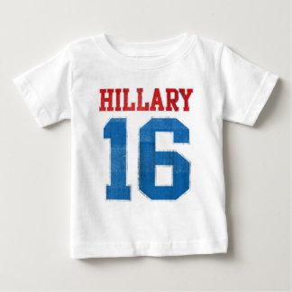 Hillary 2016, Grunge Retro Varsity Baby T-Shirt