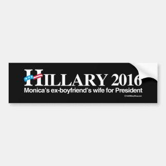 Hillary 2016 - L'épouse des ex-amis de Monica pour Autocollant De Voiture