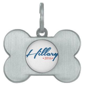 Hillary 2016 pet ID tag