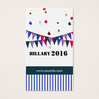 Hillary 2016 Promotional Modern  American Election Business Card