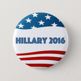 Hillary 2016 with stars and stripes 2 inch round button