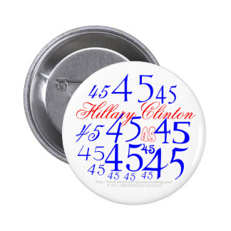 Hillary 45 2 inch round button