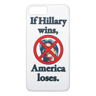 HILLARY AMERICA LOSES iPhone 7 PLUS CASE