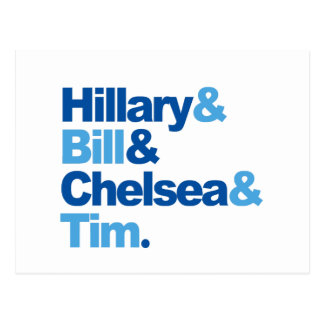 Hillary and Bill and Chelsea and Tim Postcard