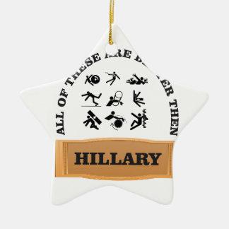hillary bad ceramic ornament