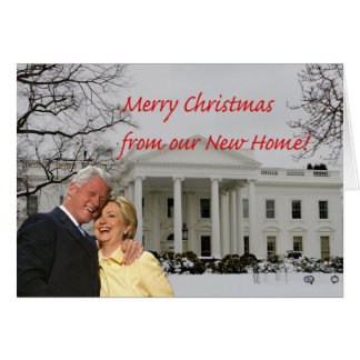 Hillary & Bill New Address Card