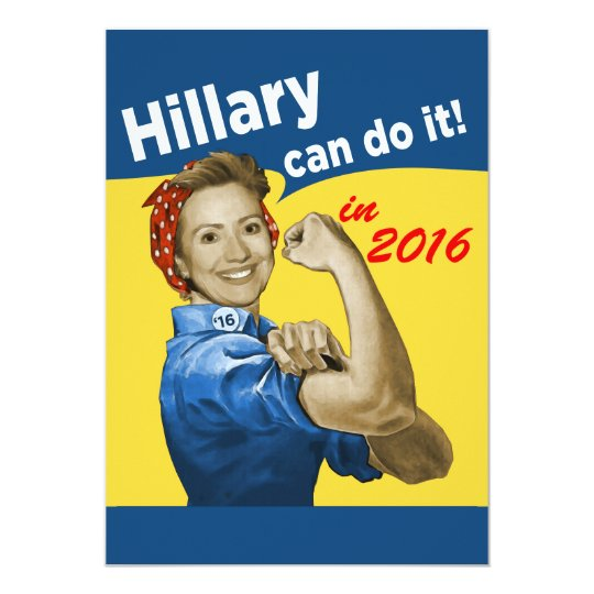 HIllary Can Do It Card