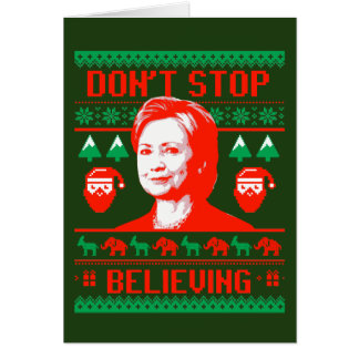 Hillary Christmas - Don't Stop Believing - Card